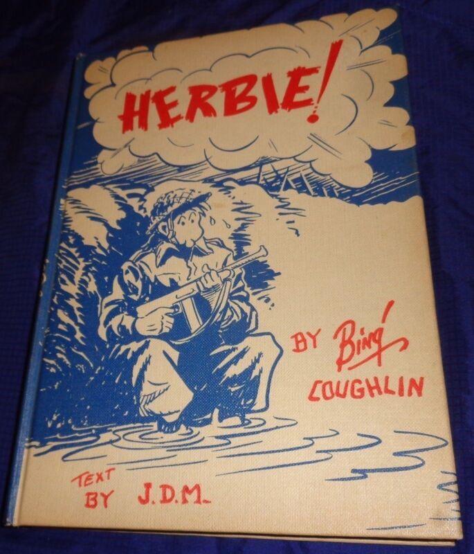 BG490 Vtg WW2 Hardcover Book Herbie By Bing Coughlin 1959 Edition