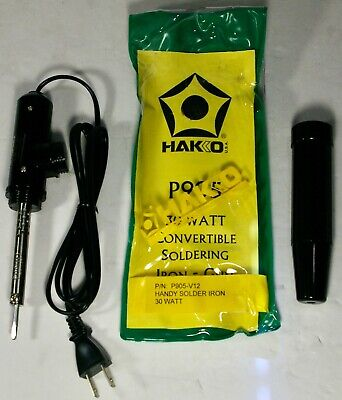 Hakko 905-v12 Handy Convertible Soldering Iron 30w With Screw-on Coverhandle