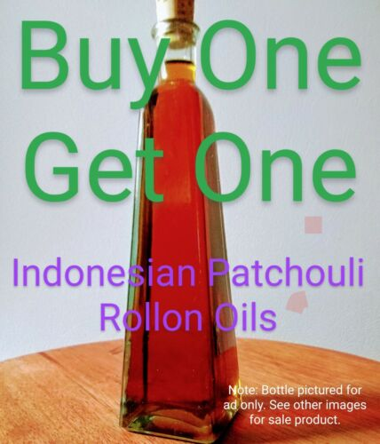 BOGO - Indo Patchouli Essential Oil, .33oz, 100% Natural - Made in NorCal