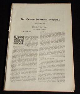 English Illustrated Magazine 1889 - vintage engravings - Glen of Conway