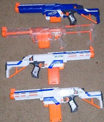 Lot of 4 NERF Guns Retaliator Elite Recon FREE SHIPPING