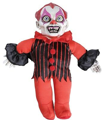 Haunted Clown Doll Prop Creepy Phrases Scary Halloween Decoration Party Decor