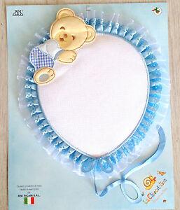 Fiocco-nascita-con-tela-Aida-Pallincio-con-Orsetto-Azzurro