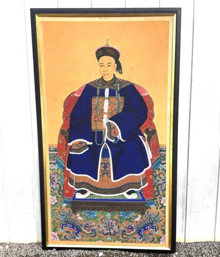 Monumental Chinese Ancestral Portrait - Qing Dynasty