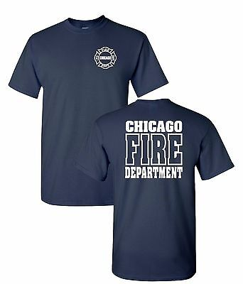 Chicago Fire Department 2 Sided Job Shirt As Seen On Tv