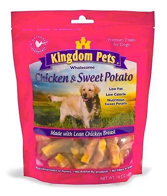 Kingdom Pets Premium Dog Treats Chicken Sweet Potato Jerky Twists 48-ounce