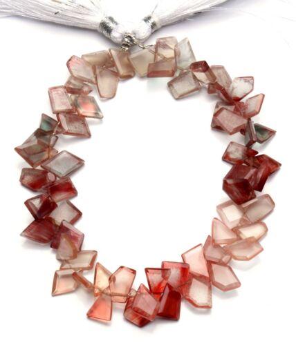 """Natural Andesine Labradorite Gem Faceted Slice Shape Beads Strand 8"""" 79Cts."""