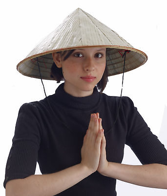 Bamboo Coolie Pointed Hat Chinese Costume Conical Rice Farmer Sun Japanese - Conical Hat