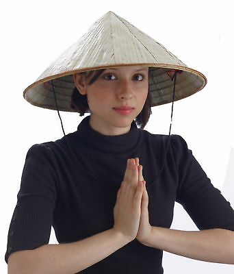 Bamboo Coolie Pointed Hat Chinese Costume Conical Rice Farmer Sun Japanese - Chinese Hats