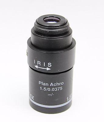 Leica 1.5x 1.50.0375 - Plan Achro Iris Macro Microscope Objective Rms K2705a