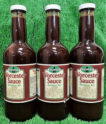 (9,97€/L) 3x Exzellent WORCESTER SAUCE Dresdner Art 1Liter Ostproduke Versand0€! Worcester Sauce