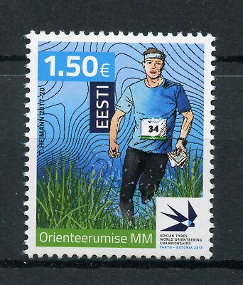 Estonia 2017 MNH WOC World Orienteering Championships 1v Set Sports Stamps