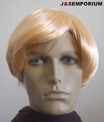 Blonde Male / Mens Fancy Dress Wig Short. Super Hero, Model, Posh, Famous Actor ()