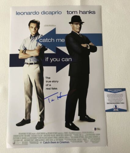 'CATCH ME IF YOU CAN' TOM HANKS SIGNED 12X18 PHOTO AUTHENTIC AUTOGRAPH BECKETT