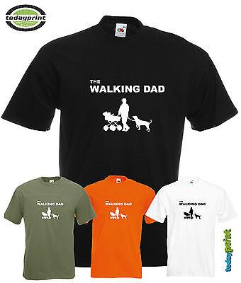 T Shirt, THE WALKING DAD, papa, spazieren, dead, hunde, Fun, Familie, Vatertag