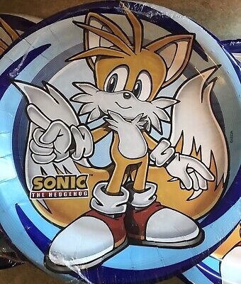 """3 Sonic The Hedgehog Small Paper Plates (8) Birthday Party Supplies Dessert 7"""""""