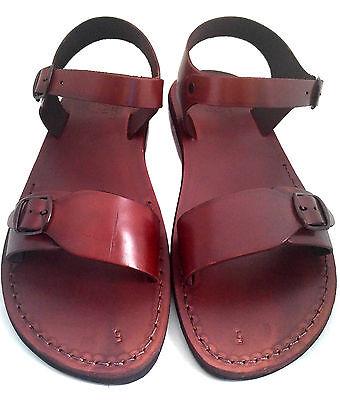 Jerusalem Biblical Sandals Brown Flip Flop Shoes 100% Leather UK 4-12 EU 36-47