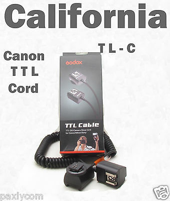 TTL Off Camera Hot Shoe Flash Sync Cable Cord Speedlight Canon EOS Digital Rebel