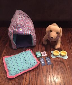 American Girl Puppy, Dog House and Accessories