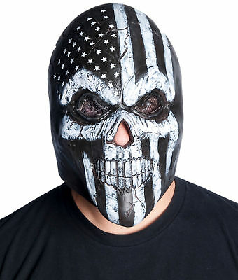 Old Glory Latex Mask Adult Skeleton Biker Skull Dude Halloween Costume Accessory