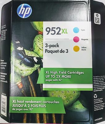 Genuine HP 952XL Ink Cartridges EXP 2019 Cyan Magenta Yellow