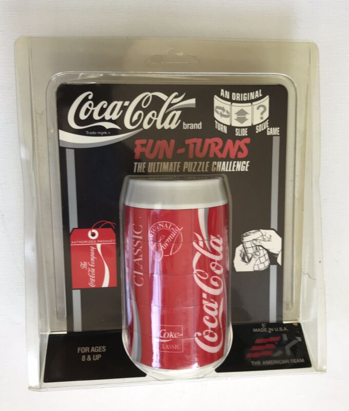 Vintage Coca Cola Coke Fun Turns Ultimate Puzzle Challenge Can Game 1992