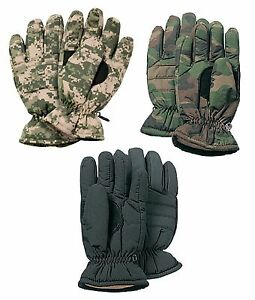 Insulated-Hunting-Glove-Cold-Weather-Mitten-ACU-Wood-Camo-Black-S-M-L-XL
