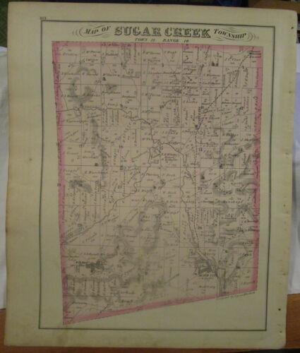 1875 Antique  Map of Sugarcreek Twp, Ohio