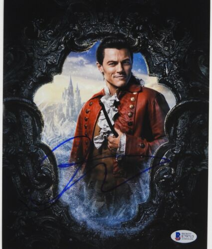 Luke Evans Beauty And The Beast Autograph Signed Photo Beckett BAS 8 x 10