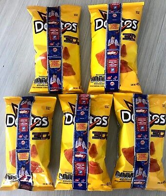Doritos 3D queso Mexican chips Sabritas 5 BAGS, EXP. DATE DEC 9 2018