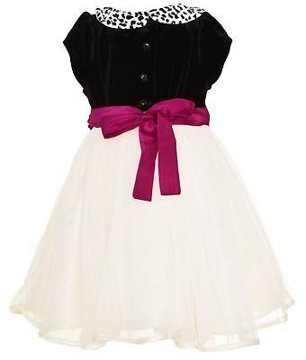 NEW Jona Michelle Girl's Velvet Tulle Dress Formal - VARIOUS SIZES (Girl Velvet Dress)