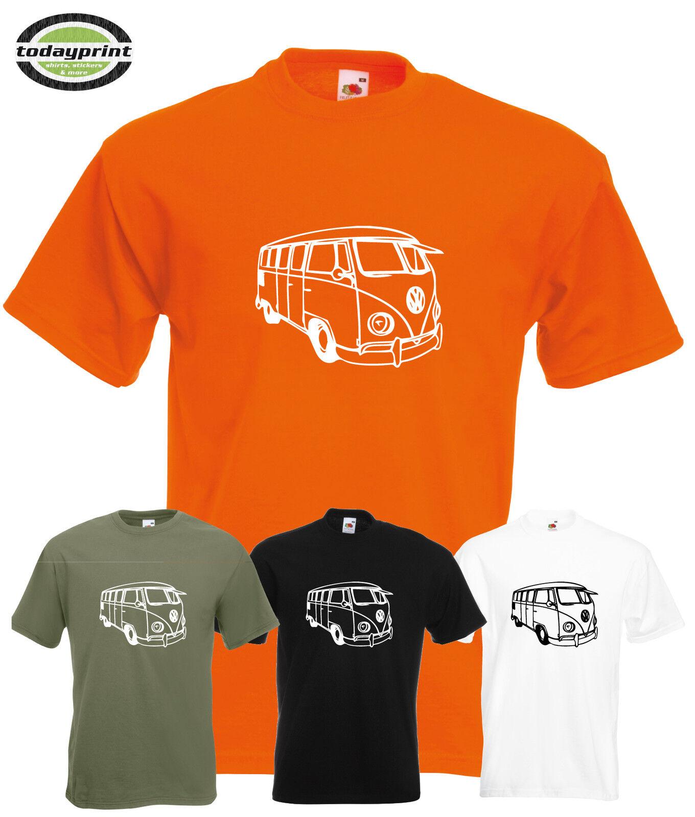 Heavy T Shirt, für VW BUS, T1, T2, T3, Bulli, Transporter, Käfer, Auto, Fans