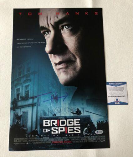 TOM HANKS SIGNED AUTOGRAPH BRIDGE OF SPIES 12X18 PHOTO POSTER BECKETT BAS COA 4
