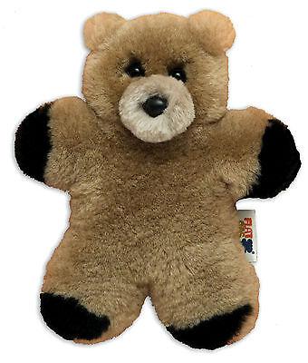 Flat Friends Grizzly Bear Lambskin comforter - soft toy Bear Lambskin Soft Toy