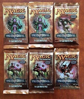 MTG Magic the Gathering TIME SPIRAL lot of 6 Sealed Booster Packs ENGLISH