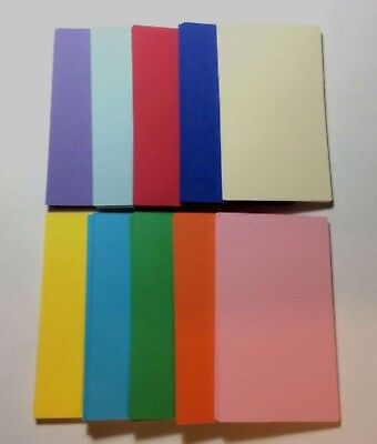 100 Assorted Blank Business Cards 3.5 x 2, Multi, flash cards, note cards New](Blank Flash Cards)
