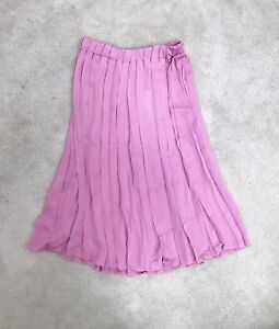New Mango pink pleated skirt, size S