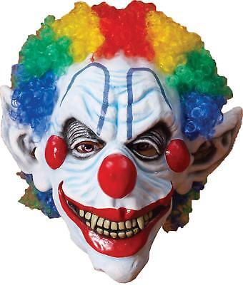 Unheimlich Friight Böser Clown Maske mit Rainbow Haare Kostüm FM65897
