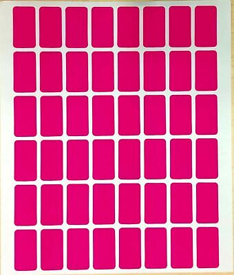 960 All Purpose Easy Peel Off Self Adhesive Pink Price Label Tags 12 X 78