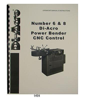 Di-acro No. 6 8 Power Bender Cnc Control Operators Instruction Manual 1491