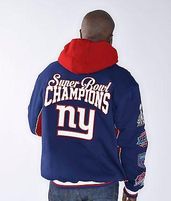 New York Giants 4 Time Super Bowl Champs Triumph Commemorative Fleece Jacket