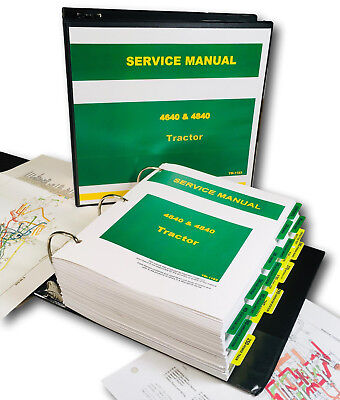 Technical Service Manual For John Deere 4640 4840 Tractor Repair Shop Workshop