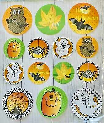 Fall Halloween Crafts (Halloween Fall  Spiders Ghosts Stickers Papercraft Planner Supply DIY Crafts)