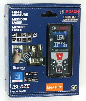 Bosch GLM 50 CX 165' Bluetooth Laser Distance Measurer
