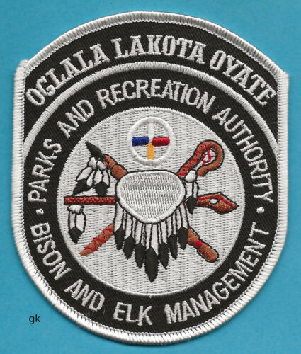 OGLALA LAKOTA OYATE BISON AND ELK TRIBAL POLICE SHOULDER PATCH   N.S. Dakota