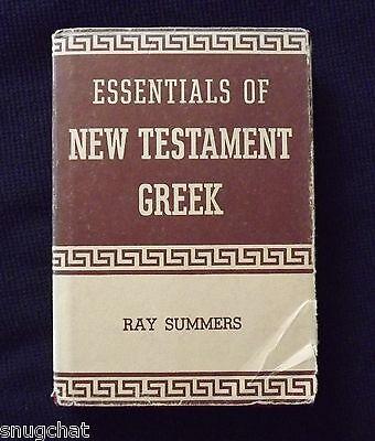 Essentials of New Testament Greek Ray Summers Large Verb Chart © 1950 Broadman