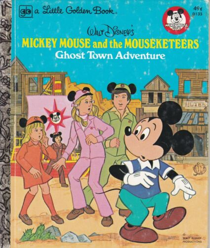 WALT DISNEY MICKEY MOUSE & MOUSEKETEERS GHOST TOWN ADVENTURE #D135 1977
