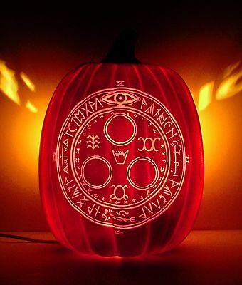 Halo Of the Sun - SILENT HILL 3 (Hand-Carved Foam Halloween Pumpkin 12