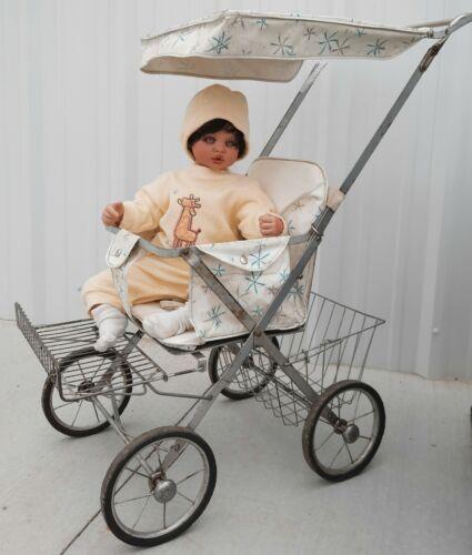 Stroller vintage antique retro old highchair walker infant seat baby chair