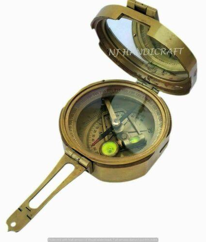 "Brass Brunton Surveying Compass Geological Antique Maritime 3"" Compass"